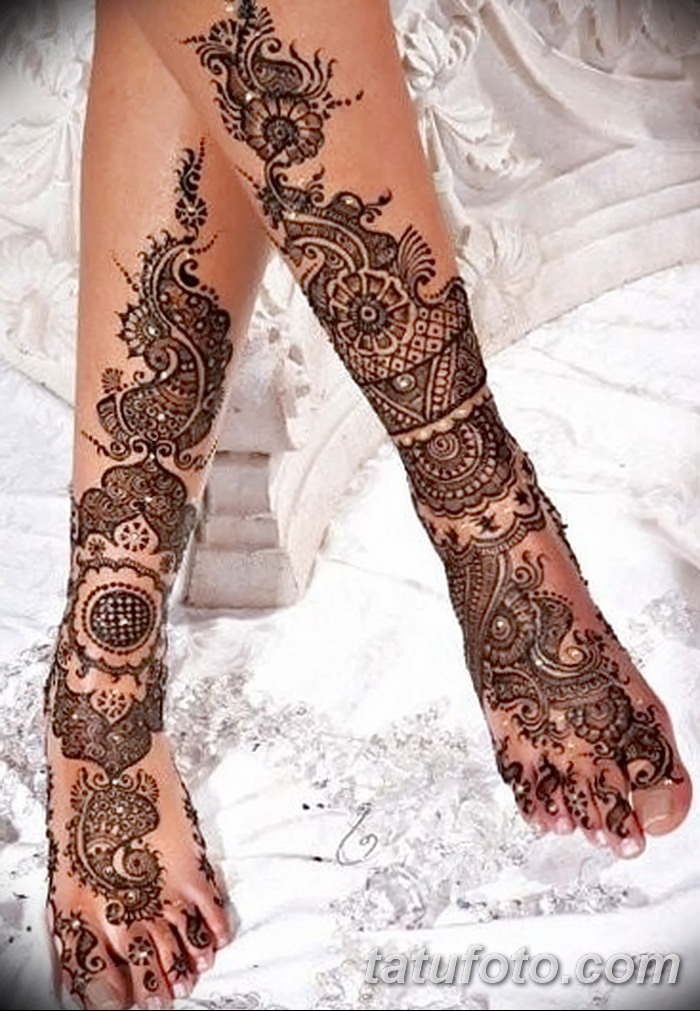 фото Мехенди на пальцах ног от 18.08.2017 №073 - Mehendi on toes_tatufoto.com