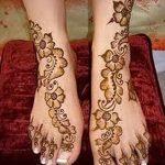 фото Мехенди на пальцах ног от 18.08.2017 №075 - Mehendi on toes_tatufoto.com
