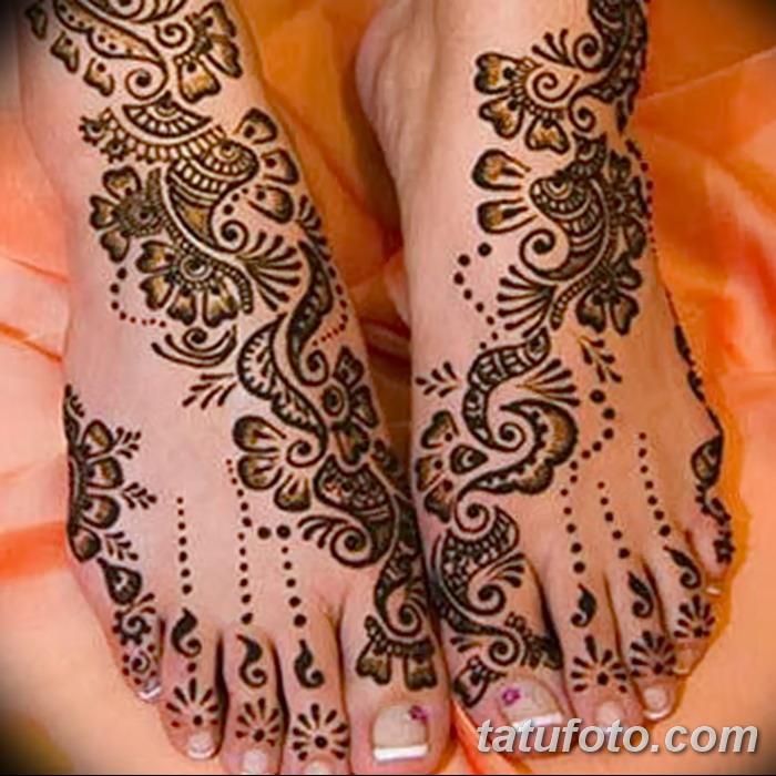 фото Мехенди на пальцах ног от 18.08.2017 №076 - Mehendi on toes_tatufoto.com