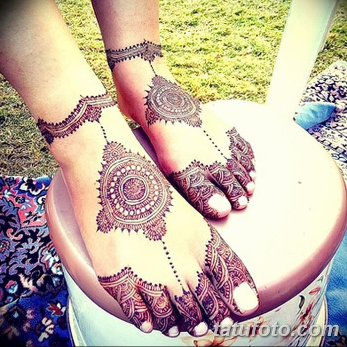 фото Мехенди на пальцах ног от 18.08.2017 №078 - Mehendi on toes_tatufoto.com