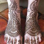 фото Мехенди на пальцах ног от 18.08.2017 №080 - Mehendi on toes_tatufoto.com
