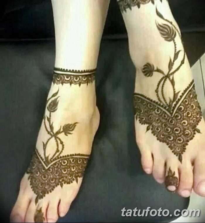фото Мехенди на пальцах ног от 18.08.2017 №084 - Mehendi on toes_tatufoto.com