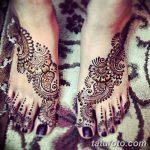 фото Мехенди на пальцах ног от 18.08.2017 №085 - Mehendi on toes_tatufoto.com