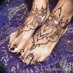 фото Мехенди на пальцах ног от 18.08.2017 №086 - Mehendi on toes_tatufoto.com
