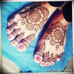фото Мехенди на пальцах ног от 18.08.2017 №088 - Mehendi on toes_tatufoto.com
