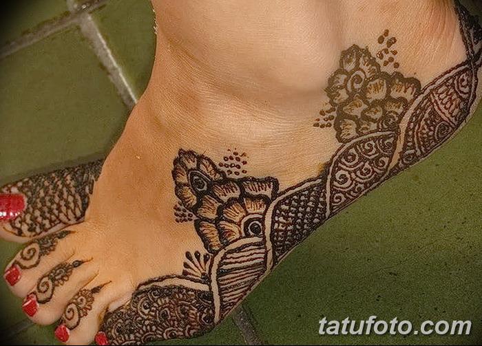 фото Мехенди на пальцах ног от 18.08.2017 №098 - Mehendi on toes_tatufoto.com