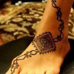 фото Мехенди на пальцах ног от 18.08.2017 №102 - Mehendi on toes_tatufoto.com