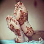 фото Мехенди на пальцах ног от 18.08.2017 №103 - Mehendi on toes_tatufoto.com