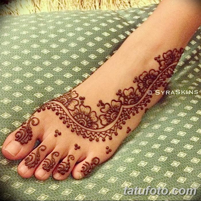 фото Мехенди на пальцах ног от 18.08.2017 №112 - Mehendi on toes_tatufoto.com