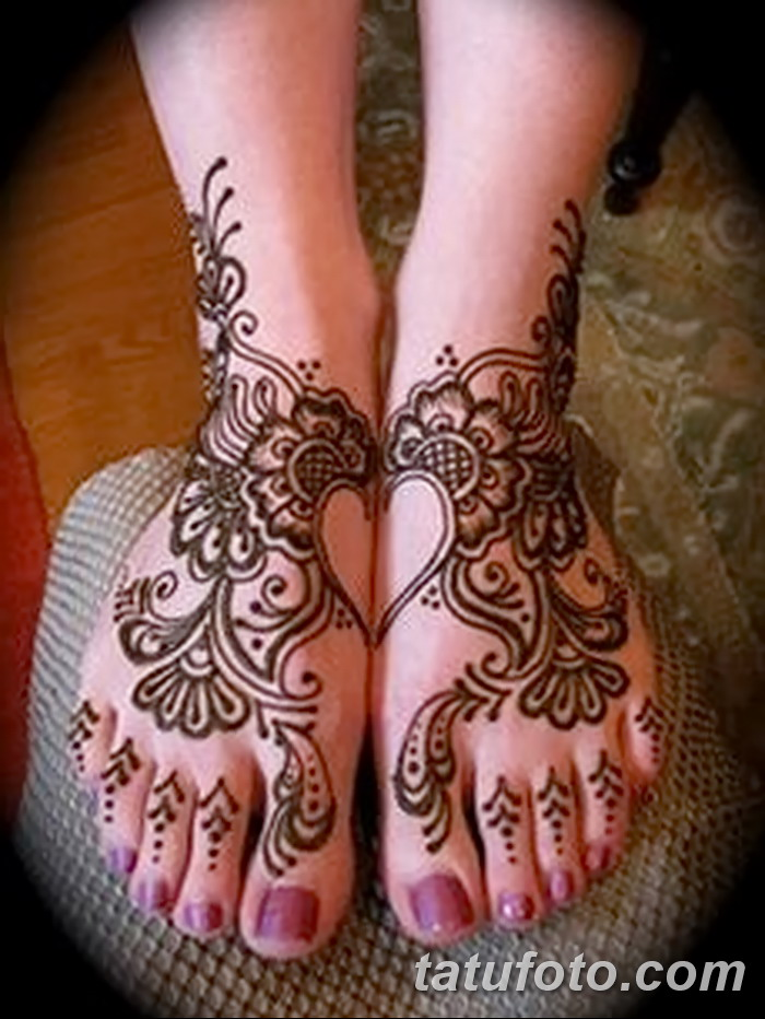 фото Мехенди на пальцах ног от 18.08.2017 №114 - Mehendi on toes_tatufoto.com
