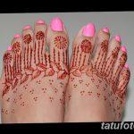 фото Мехенди на пальцах ног от 18.08.2017 №127 - Mehendi on toes_tatufoto.com
