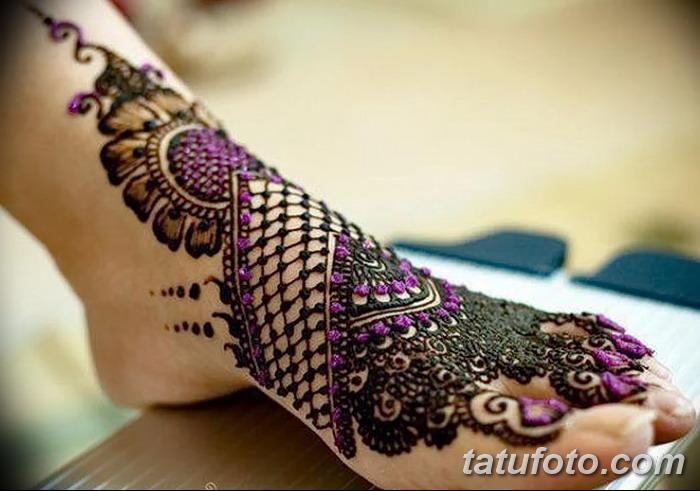 фото Мехенди на пальцах ног от 18.08.2017 №131 - Mehendi on toes_tatufoto.com