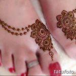 фото Мехенди на пальцах ног от 18.08.2017 №137 - Mehendi on toes_tatufoto.com