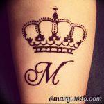 фото Мехенди рисунок корона от 02.08.2017 №001 - Mehendi drawing crown_tatufoto.com