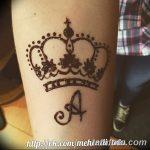 фото Мехенди рисунок корона от 02.08.2017 №004 - Mehendi drawing crown_tatufoto.com