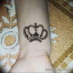 фото Мехенди рисунок корона от 02.08.2017 №005 - Mehendi drawing crown_tatufoto.com