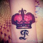 фото Мехенди рисунок корона от 02.08.2017 №007 - Mehendi drawing crown_tatufoto.com