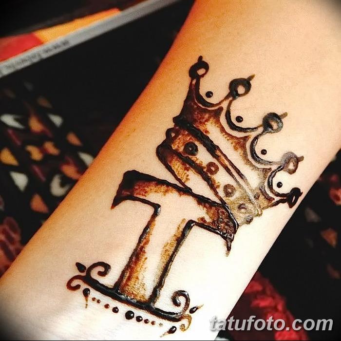 фото Мехенди рисунок корона от 02.08.2017 №009 - Mehendi drawing crown_tatufoto.com