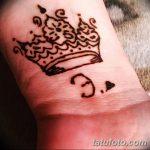 фото Мехенди рисунок корона от 02.08.2017 №012 - Mehendi drawing crown_tatufoto.com