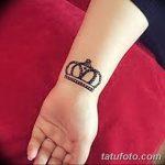 фото Мехенди рисунок корона от 02.08.2017 №022 - Mehendi drawing crown_tatufoto.com