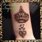 фото Мехенди рисунок корона от 02.08.2017 №025 - Mehendi drawing crown_tatufoto.com