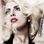 фото Тату Леди Гаги от 25.08.2017 №059 - Tattoo 13 - Lady Gaga Tattoo - tatufoto.com