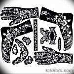 фото Трафареты мехенди от 19.08.2017 №010 - Mehendi stencils_tatufoto.com