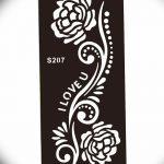 фото Трафареты мехенди от 19.08.2017 №032 - Mehendi stencils_tatufoto.com
