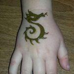 фото дракон хной от 02.08.2017 №005 - Dragon henna_tatufoto.com