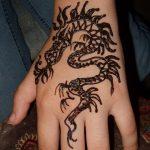 фото дракон хной от 02.08.2017 №073 - Dragon henna_tatufoto.com