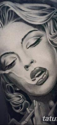 фото тату Мэрилин Монро от 08.08.2017 №015 – Tattoo Marilyn Monroe_tatufoto.com