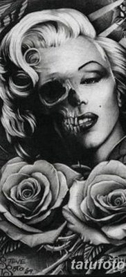 фото тату Мэрилин Монро от 08.08.2017 №017 – Tattoo Marilyn Monroe_tatufoto.com