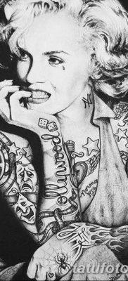 фото тату Мэрилин Монро от 08.08.2017 №034 – Tattoo Marilyn Monroe_tatufoto.com