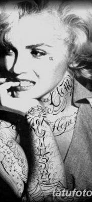фото тату Мэрилин Монро от 08.08.2017 №036 – Tattoo Marilyn Monroe_tatufoto.com