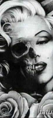 фото тату Мэрилин Монро от 08.08.2017 №061 – Tattoo Marilyn Monroe_tatufoto.com