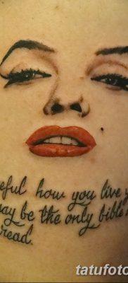 фото тату Мэрилин Монро от 08.08.2017 №063 – Tattoo Marilyn Monroe_tatufoto.com