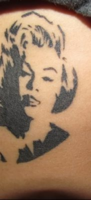 фото тату Мэрилин Монро от 08.08.2017 №090 – Tattoo Marilyn Monroe_tatufoto.com