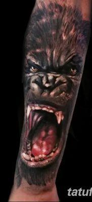 фото тату горилла от 27.08.2017 №002 – Gorilla tattoo – tatufoto.com