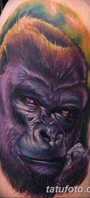 фото тату горилла от 27.08.2017 №003 – Gorilla tattoo – tatufoto.com