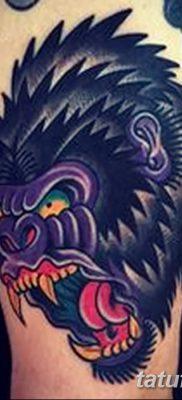 фото тату горилла от 27.08.2017 №024 – Gorilla tattoo – tatufoto.com