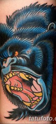 фото тату горилла от 27.08.2017 №026 – Gorilla tattoo – tatufoto.com