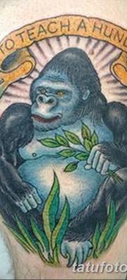 фото тату горилла от 27.08.2017 №033 – Gorilla tattoo – tatufoto.com