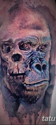 фото тату горилла от 27.08.2017 №040 – Gorilla tattoo – tatufoto.com