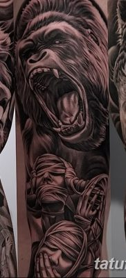 фото тату горилла от 27.08.2017 №043 – Gorilla tattoo – tatufoto.com