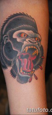 фото тату горилла от 27.08.2017 №046 – Gorilla tattoo – tatufoto.com