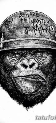 фото тату горилла от 27.08.2017 №053 – Gorilla tattoo – tatufoto.com