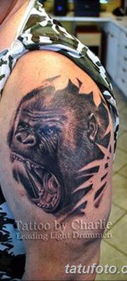 фото тату горилла от 27.08.2017 №062 – Gorilla tattoo – tatufoto.com