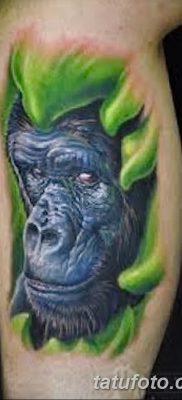фото тату горилла от 27.08.2017 №064 – Gorilla tattoo – tatufoto.com
