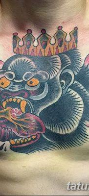 фото тату горилла от 27.08.2017 №065 – Gorilla tattoo – tatufoto.com