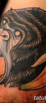 фото тату горилла от 27.08.2017 №066 – Gorilla tattoo – tatufoto.com